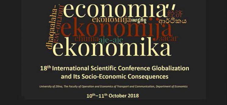 Globalization and its socio-economic consequences 2018